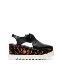 Stella McCartney Black Elyse 75 Cutout Platform Shoes