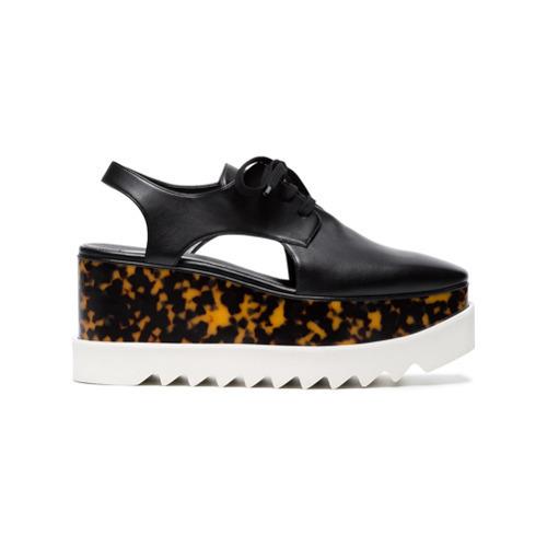 c6020b98bbc7 ... Stella McCartney Black Elyse 75 Cutout Platform Shoes ...