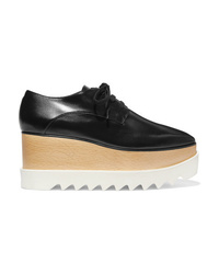 Stella McCartney Elyse Faux Glossed Leather Platform Brogues