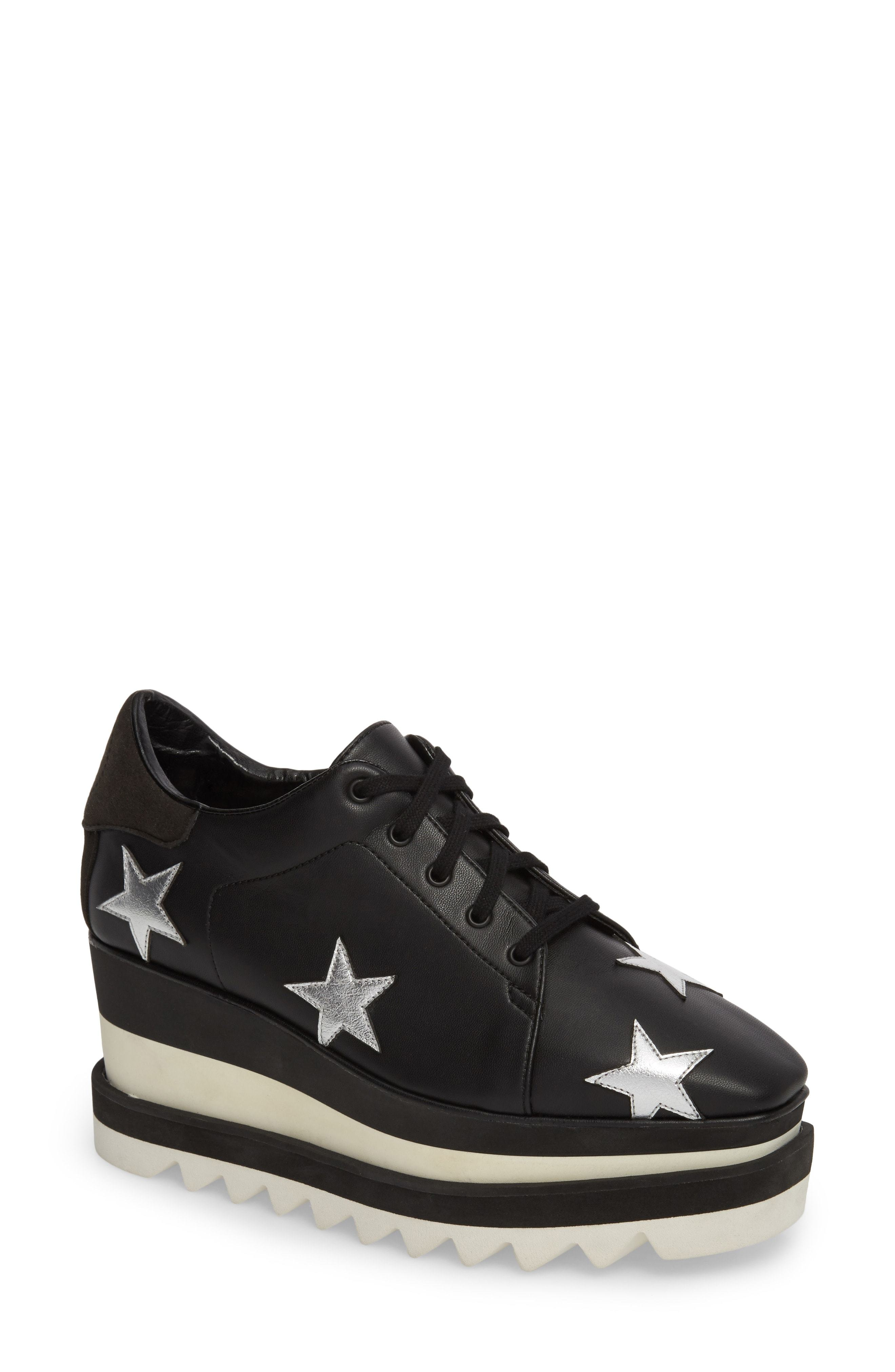 f9754ff078a Elyse Platform Sneaker. Black Chunky Leather Oxford Shoes by Stella  McCartney
