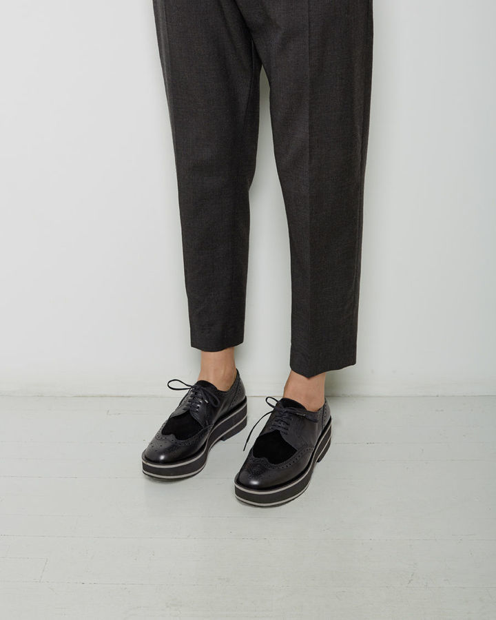 ... Black Chunky Leather Oxford Shoes Robert Clergerie Irvinap Platform  Oxford ... a592ca9c8