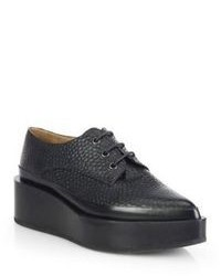Jil Sander Lace Up Oxford Leather Platform Flats
