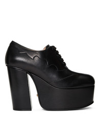 Gucci Black Otis Platform Loafer Heels