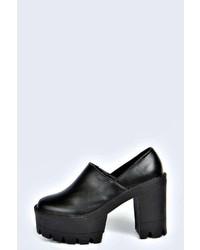 Boohoo Kyrah Cleated Platform Heels