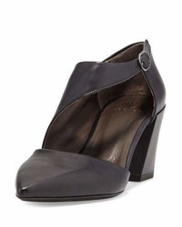 Coclico Jung Leather Chunky Heel Pump Black