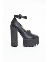 Missguided Mairin Black Extreme Platform Heels