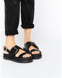 ff0d72c84ad5 Asos Frayer Chunky Buckle Sandals