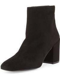 Bacari suede chunky heel bootie medium 3679110
