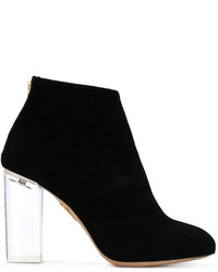 Charlotte Olympia Chunky Heel Ankle Boots