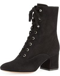 Suede lace up chunky bootie medium 3697501