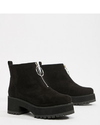 ASOS DESIGN Wide Fit Brianna Chunky Zip Boots