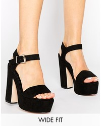 Asos Collection Highlight Wide Fit Heeled Sandals