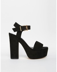a9312de3bae ... Asos Collection Highlight Wide Fit Heeled Sandals ...