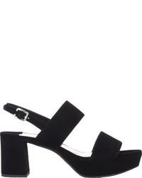 Prada Double Band Platform Sandals