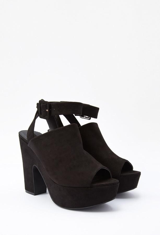 ... Forever 21 Faux Suede Platform Sandals ... a55a2e055d
