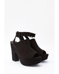 Forever 21 Faux Suede Platform Sandals