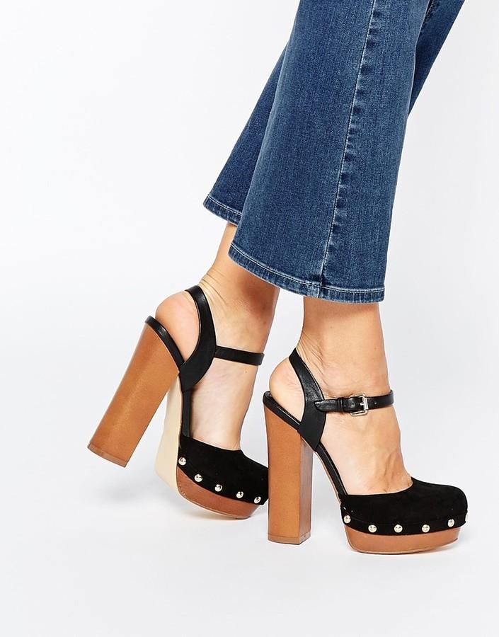 ddacf5d2b27 ... Miss KG Giddy Black Wooden Platform Sandals ...