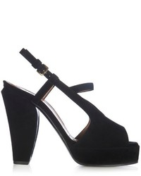 Marni Cut Out Front Suede Sandals