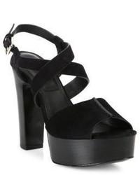 Michael Kors Michl Kors Collection Gramercy Suede Platform Sandals