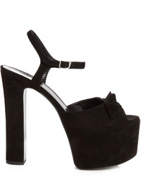 Saint Laurent Betty Suede Platform Sandals