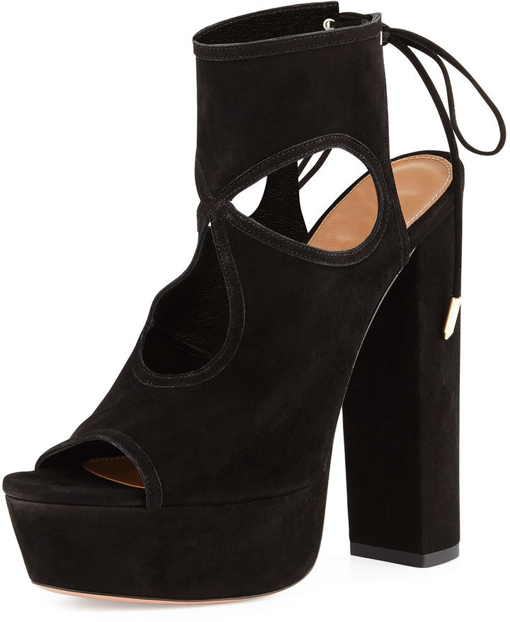 4c117175386 Aquazzura Sexy Thing Platform Sandal Black