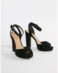 New Look Square Toe Platform Heeled Sandal