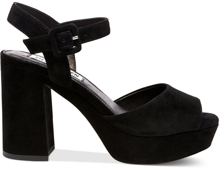 988aa4a4c4c Steve Madden Trixie Two Piece Block Heel Platform Sandals