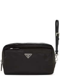 Prada Black Nylon Zip Pouch