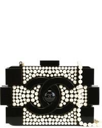 Chanel Vintage Brick Pearl Clutch