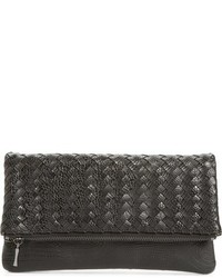Sole Society Kaya Crossweave Clutch Black