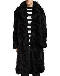 McQ Alexander Ueen Iggy Shaggy Faux Fur Long Coat