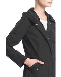 Moncler Argeline Long Hooded Raincoat