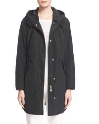 Moncler Argeline Long Hooded Raincoat