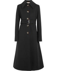Marni Belted Gabardine Coat Black