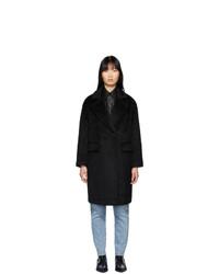Mackage Black Alpaca And Wool Eve Long Coat