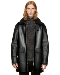 Stella McCartney Black Faux Leather Coat