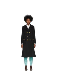 Gucci Black Wool Double Breasted Coat