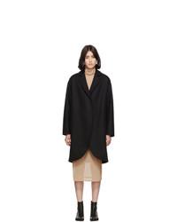 MM6 MAISON MARGIELA Black Wool Overcoat