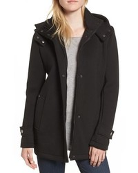 Kenneth Cole New York Bonded Hooded A Line Jacket