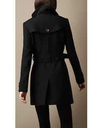 a8d1ba174 Burberry Brit Short Double Wool Twill Trench Coat, $1,095 | Burberry ...