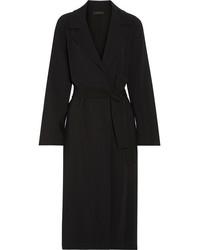The Row Bruner Belted Cady Coat Black