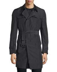 CNC Costume National Costume National Long Sleeve Belted Rain Coat Black