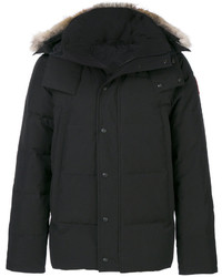 Canada Goose Coyote Fur Trim Hooded Coat
