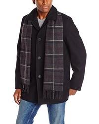 Dockers Wool Melton Walking Coat With Detachable Scarf