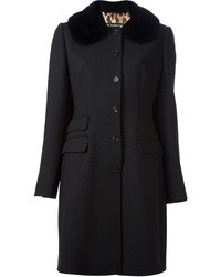 Dolce & Gabbana Fur Collar Overcoat