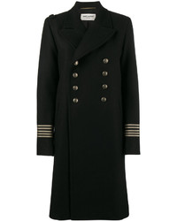 Saint Laurent Double Breasted Military Coat