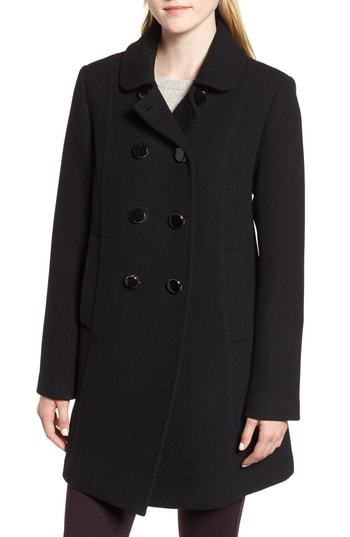 kate spade new york Double Breasted Twill Coat