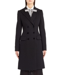 Dolce & Gabbana Double Breasted Wool Cashmere Coat