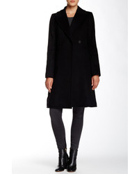 Dawn Levy Double Breasted Wool Mid Length Coat