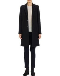 Barneys New York Felted Car Coat Black